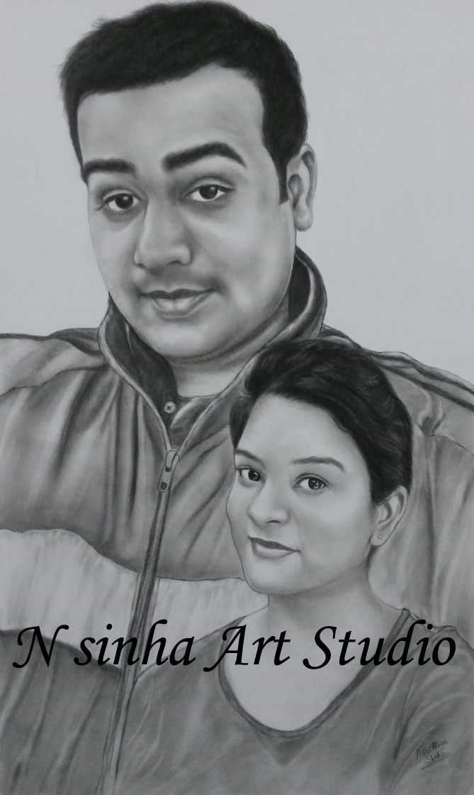 Pencil Sketch Portraits for unique gift
